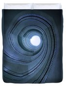 Blue Spiral Staircaise Duvet Cover