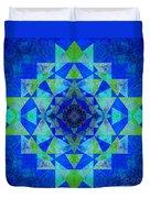 Blue Sri Yantra Variation Duvet Cover