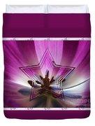 Blue Star Tulip Design Duvet Cover