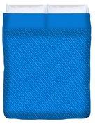 Blue Striped Diagonal Textile Background Duvet Cover