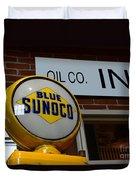 Blue Sunoco Globe Duvet Cover