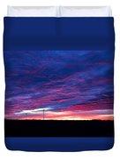 Blue Sunrise In West Texas Duvet Cover
