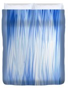 Blue Swoops Vertical Abstract Duvet Cover