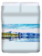 Blue Tahoe Duvet Cover
