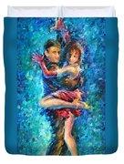 Blue Tango 1 Duvet Cover