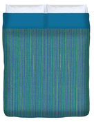 Blue Teal And Yellow Striped Textile Background Duvet Cover