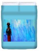 Blue Thinker Duvet Cover