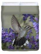 Blue-throated Hummingbird Duvet Cover