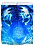 Blue Tiger Duvet Cover