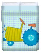 Blue Tractor Duvet Cover