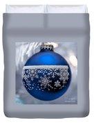 Blue Tree Ornament Duvet Cover