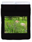 Blue Vervain And Rocks In Pipestone National Monument-minnesota  Duvet Cover