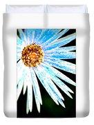 Blue Vexel Flower Duvet Cover