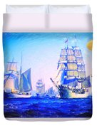 Blue Voyage To Serenity Duvet Cover