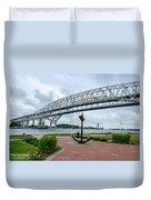Blue Water Bridge Anchor Duvet Cover