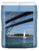 Blue Water Bridge Sail Duvet Cover