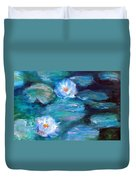 Blue Water Lilies Duvet Cover