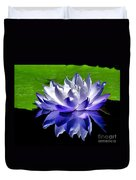 Blue Water Lily Reflection Duvet Cover