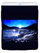 Blue Waterfall Duvet Cover