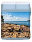 Blue Waters And Blue Skies Duvet Cover