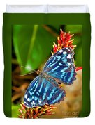 Blue Wave Butterfly Duvet Cover