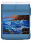 Blue Waves Hawaii Duvet Cover