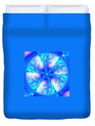 Blue Wheel Inflamed Abstract Duvet Cover