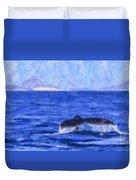 Blue Wilderness Duvet Cover