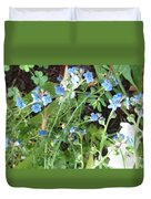 Blue Wildflowers Duvet Cover