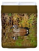 Blue-winged Teal Drake Duvet Cover