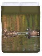 Blue-winged Teal Pair Duvet Cover