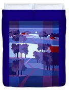 Blue Winter Farms Duvet Cover