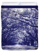 Blue World In Savannah Duvet Cover