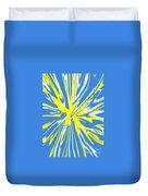 Blue Yellow White Swirl Duvet Cover