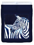 Blue Zebra Duvet Cover
