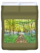 Bluebell Wood Watercolour Duvet Cover