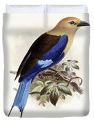Bluebellied Roller Duvet Cover