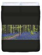 Bluebells In Beech Forest Duvet Cover