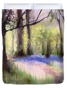 Bluebells At Dusk Duvet Cover