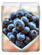 Blueberries Closeup Duvet Cover