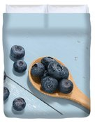Blueberries On A Spoon Duvet Cover