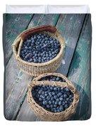 Blueberry Baskets Duvet Cover