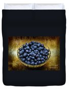 Blueberry Elegance Duvet Cover by Andee Design
