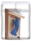 Bluebird Of Happiness Duvet Cover