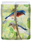 Bluebird Pair Duvet Cover