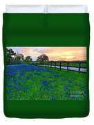 Bluebonnet Fields Forever Brenham Texas Duvet Cover