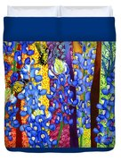Bluebonnet Garden Duvet Cover