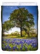 Bluebonnet Meadow Duvet Cover