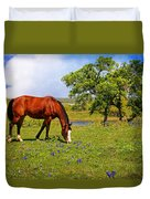Bluebonnet Trail Delight Duvet Cover