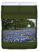 Bluebonnets And Oaks Duvet Cover